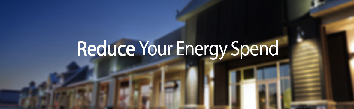 Energy efficient building highlighting energy management solutions