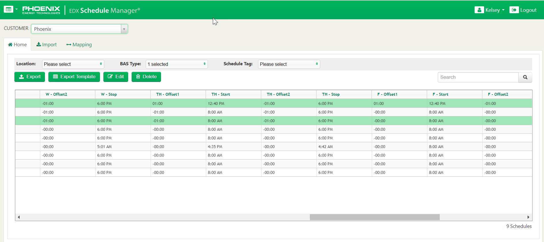 EDX Schedule Manager
